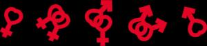 Bild på symboler i rött